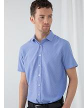 Mens Gingham Cofrex/Pufy Wicking S/S Shirt