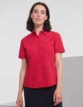 Ladies` Short Sleeve Polycotton Poplin Shirt