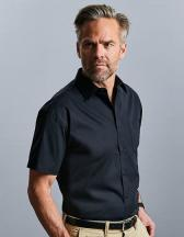 Men`s Short Sleeve Pure Cotton Poplin Shirt