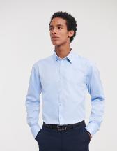 Men´s Long Sleeve Herringbone Shirt